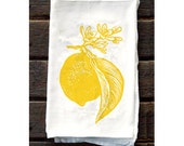 Lemon Flour Sack Kitchen Towel