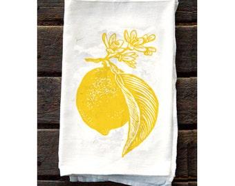 KTF3: Lemon Flour Sack Kitchen Towel