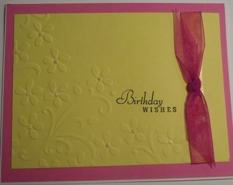 Simple Elegant Handmade Birthday Card