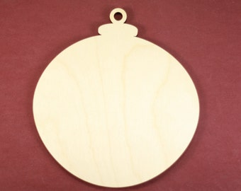 Christmas Classic Round Ornament Shape Unfinished Wood Laser Cut Shapes Crafts Variety of Sizes
