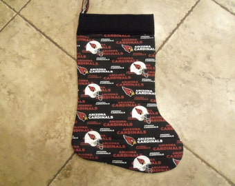 Handmade Oversized Quilted Christmas Stocking Arizona Cardinals NFL Xmas Free Personalization Football