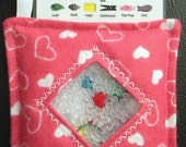 I Spy Bag - Mini with SEWN Word List and Detachable PICTURE LIST- Hearts of Love
