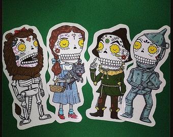 Calaveras of Oz Clear Vinyl Sticker 4-Pack