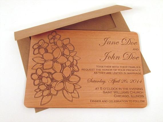 Blume Blumenstrauß hölzerne Hochzeit Einladung Floral