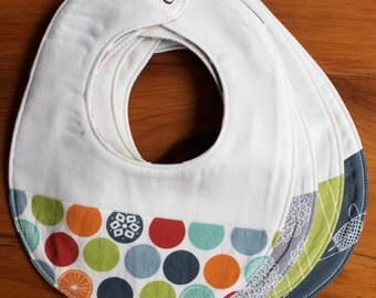 Organic Baby Bib SALE; EIKO Collection; Japanese Design Baby Bib Gift; Pretty Baby Gift for Modern Babies; Organic Baby Gift; Teething Bib