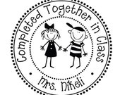 Completed Together in Class Teacher Name Self Inking Stamp --7573