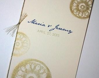 Elegant Vintage Program Covers, Partial DIY Ceremony Programs, Programmes, Order of Service Cover