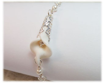 Calla Lily Pearl Bracelet - Calla Lily Jewelry Collection