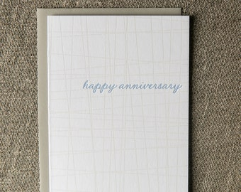 Letterpress Anniversary Card