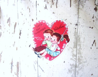 Valentine's Day Card, Vintage Valentine Note