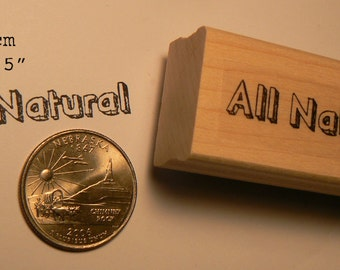 All natural rubber stamp WM P55