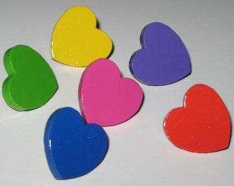 Assorted Heart Push Pins