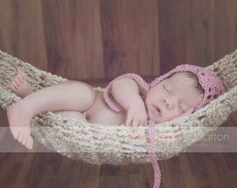 crochet Hammock / Newborn Sling pod  newborn photography prop  custom colors