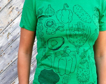 Womens Vegetable Tee - t-shirt - womens apparel - farmers market - vegetarian