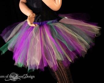 Mardi gras Streamer tutu skirt purple green yellow adult run race costume halloween carnival --You Choose Size -- Sisters of the Moon