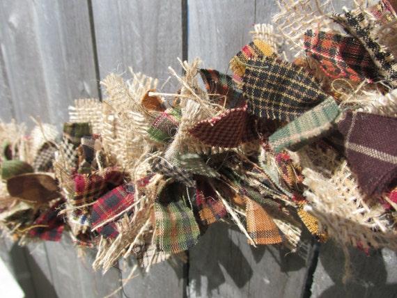 Christmas Burlap Fabric