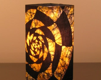 "Batik Accent Lamp ""Golden Twist"""