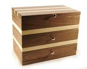 Modular Jewelry Box System Walnut and Maple Set