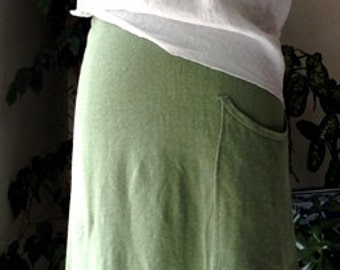 A Line Hemp Skirt with pocket. Organic Hemp Clothing. XS - XL