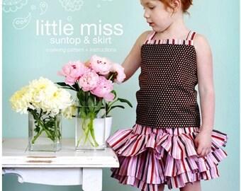 Little Miss Suntop & Skirt Sewing Pattern