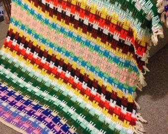 Amazing crochet colorful afghan blanket