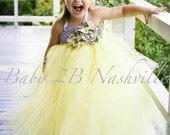 Yellow Flower Girl Dress  Wedding Flower Girl Dress All Sizes Girls