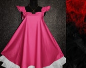 SHORT Lollipop Pink RUFFLE Swing Babydoll Prom Dance Dress Plus Size US 20 22 24
