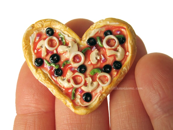 Food Jewelry Rings Heart Shaped Pizza Ring Food