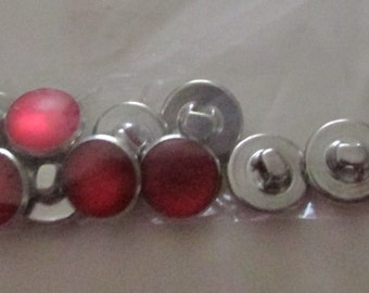 red  drops set buttons set of 10