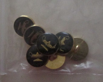 genie lamp buttons set of 10