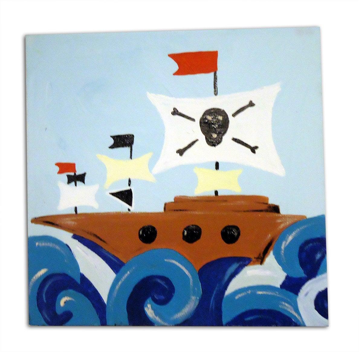 pirate ship painting canvas children u0027s art kids