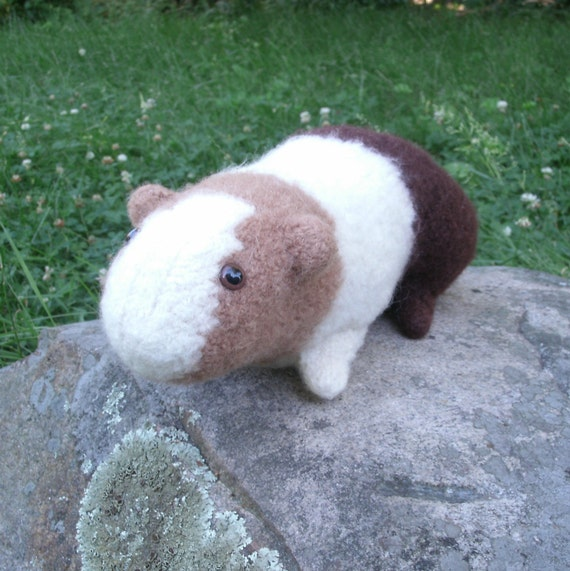 Guinea Pig Knitting Pattern, Stuffed Toy Pattern Plush PDF Digital Download f...