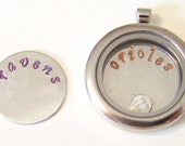 Custom Team Plates, will fit any brand of floating charm lockets....select to fit medium or large