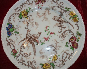 Rare Royal Cauldon Plate,Est 1774,4 of 40,Birds,Made in England