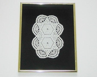 Vintage Lace Crocheted Doily Picture