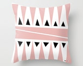 Pink Decorative throw pillow cover - Pillows for couch. Modern Home decor - Modern pillow cover - Toss Pillow covers