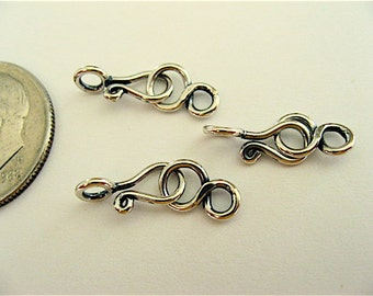3 Bali Sterling Silver Figure 8 Clasps 16mm