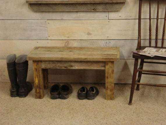 "Driftwood Bench for Entryway (32"" x 15"" x 16""H)"