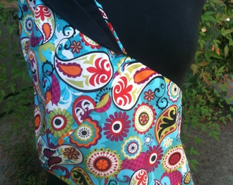 Baby Sling  Baby Carrier  Turquoise Paisley   Second Item Ships Free
