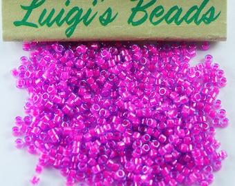 11/0 Miyuki Delica Glass Seed Beads DB2049- Luminous Magenta/Blue 5g
