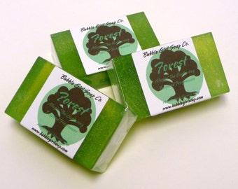Magic The Gathering Soap FOREST Land Mana Glycerin Soap MIni Guest Bar Pine Ozone Rain