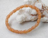 Peach Aventurine Beads- Carved Buddha Bead Style Small Gemstone Beads for Beaded Jewelry Making