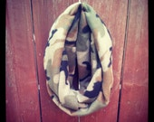 circle shawl... forest camo LIMITED EDITION
