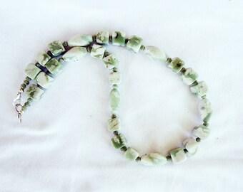 SALE, Peace Jade Necklace
