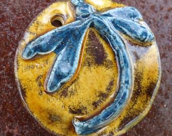 Dragonfly Stoneware Pendant