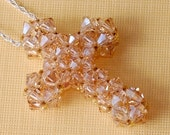 Beading Tutorial Video: Crystal Cross Necklace