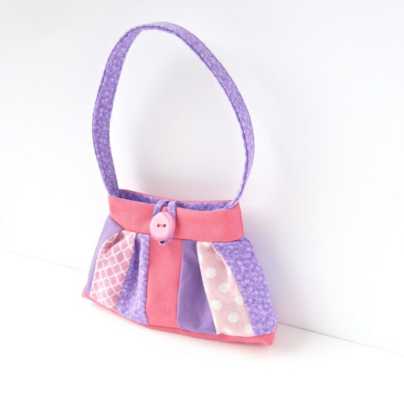 little toy purse. pink purple toddler girl gift idea. handbag. flower girl gifts. cute twin baby first birthday present. small
