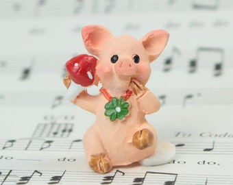 Little Piggy - Set of 4 miniature piggy figurine dollhouse diorama project craft - 205-6506