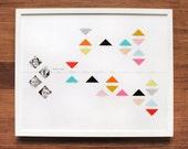 Family tree print with photos, geometric shapes and milestone timeline, CUSTOM, 16x20