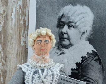 Women's Suffrage Elizabeth Cady Stanton Doll Miniature Historical Art